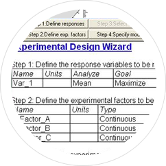 Design of experiments wizard